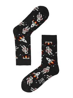 Носки Астронавт ZAIN 061 Чёрные - фото 5784