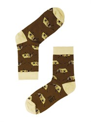 Носки Палатка ZAIN 057 коричневые