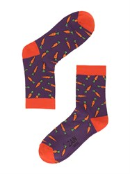 Носки Морковка ZAIN 036 т.фиолетовые